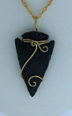 Wire wrapped arrowhead on Pinterest