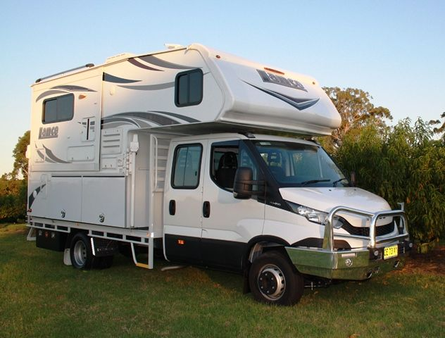 iveco daily slide on camper combo