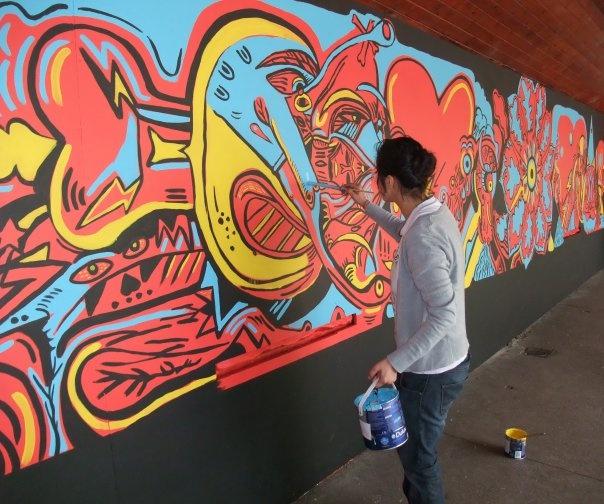 edinburgh international festival mural 2009
