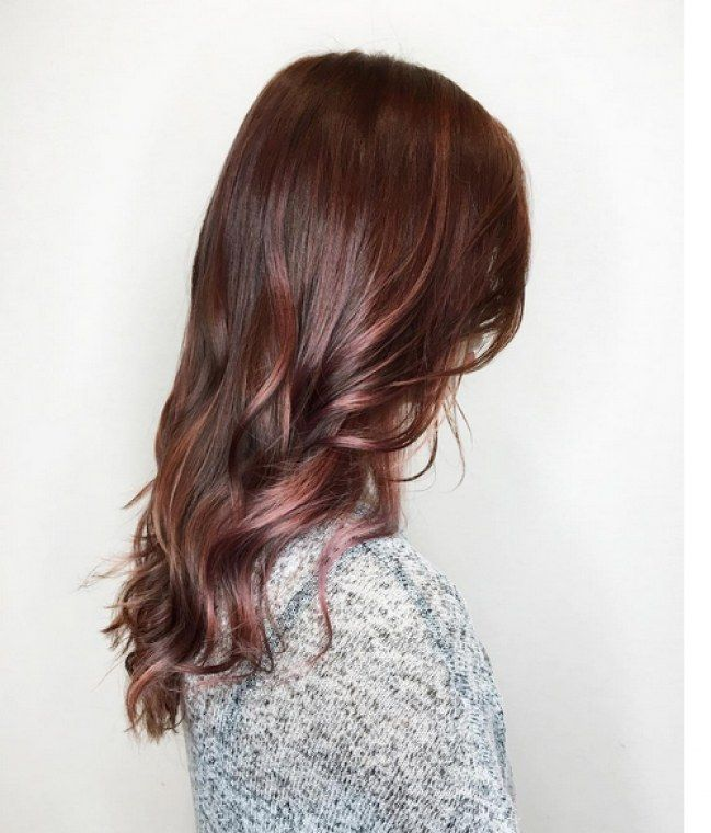 """Résultat de recherche d'images pour """"balayage rose gold cheveux"""""""