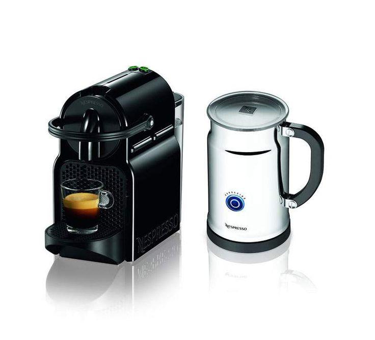 Portrait of Modern Espresso Machine with Milk Frother