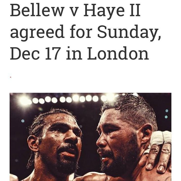 Looks like the rematch is now sorted Dec 17th the likely date. David haye says his Achilles injury is now back to fighting fit. #boxing #caneloggg #showtime #alverez #golovkin #hbo #ufc #danawhite #ppv #rolex #thebestever #mexico #kazakhstan #tmt #conormgregor #grantboxing #themoneyfight #mgmgrand #vegas #mexicanindependenceday #VivaLaMexico