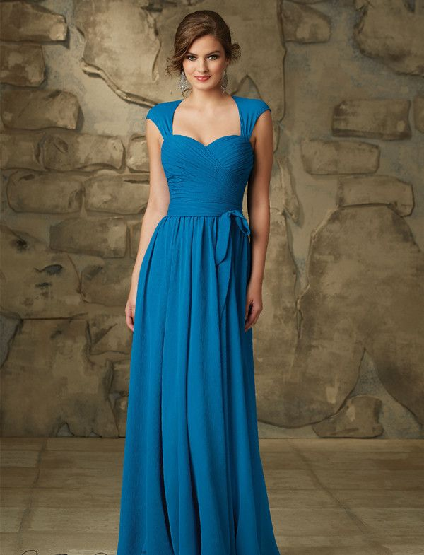 1000 ideas about chiffon bridesmaid dresses on pinterest for Ocean blue wedding dress
