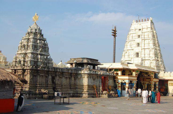 The Bhadrachalam Seetarama Swamy temple, on the banks of the Godavari, notice the Chakra fixed on the Gopuram.