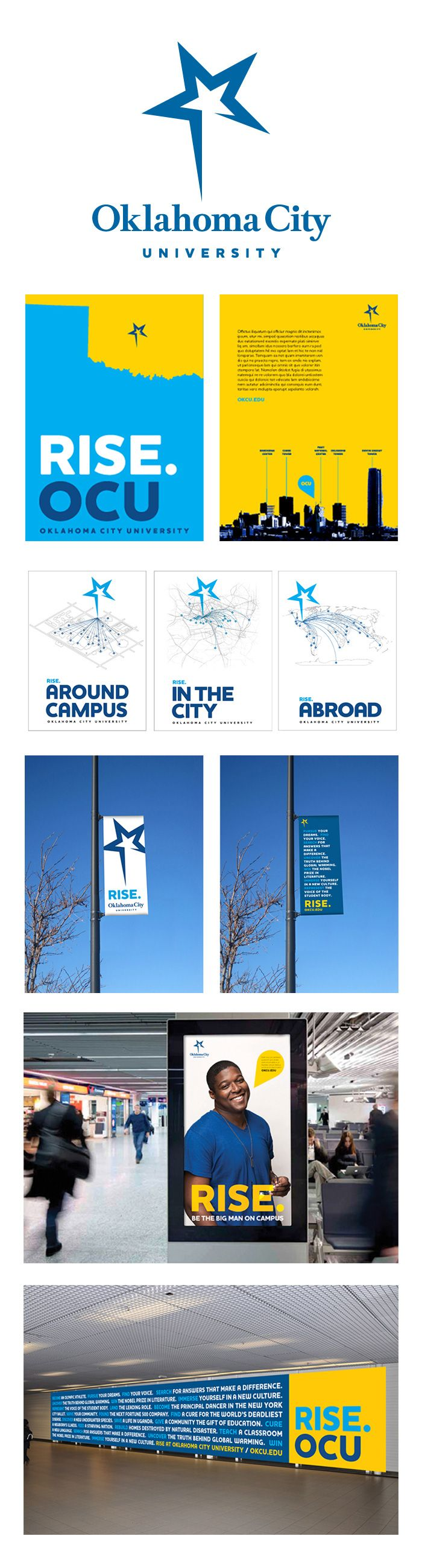 Oklahoma City University branding par Pentagram