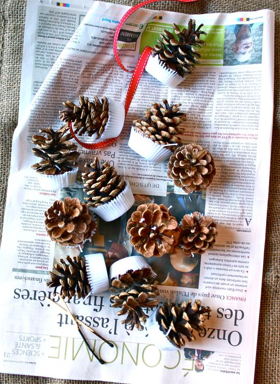 Simple DIY Pinecone Firelighters / Fire Starters tutorial from www.katescreativespace.com
