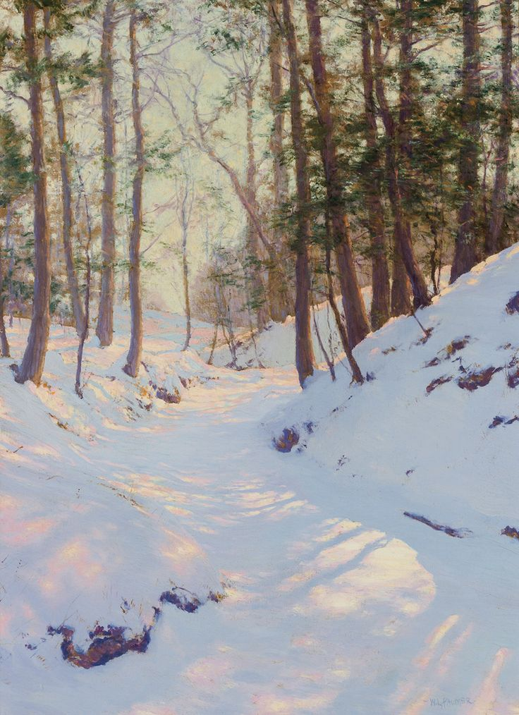 Snowy landscape scene by Walter Launt Palmer fetches $132,000 at Shannon's - Artwire Press Release from ArtfixDaily.com