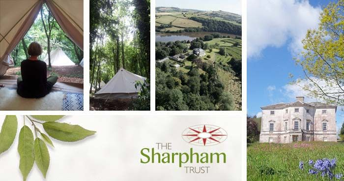 In cosy woodland bell-tents in a spectacular setting on the Sharpham Estate, near Totnes, South Devon, UK.
