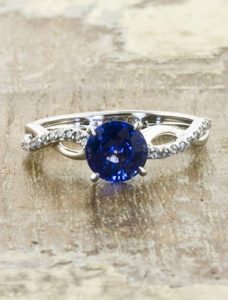 vintage sapphire engagement ring by ken and dana design. Black Bedroom Furniture Sets. Home Design Ideas