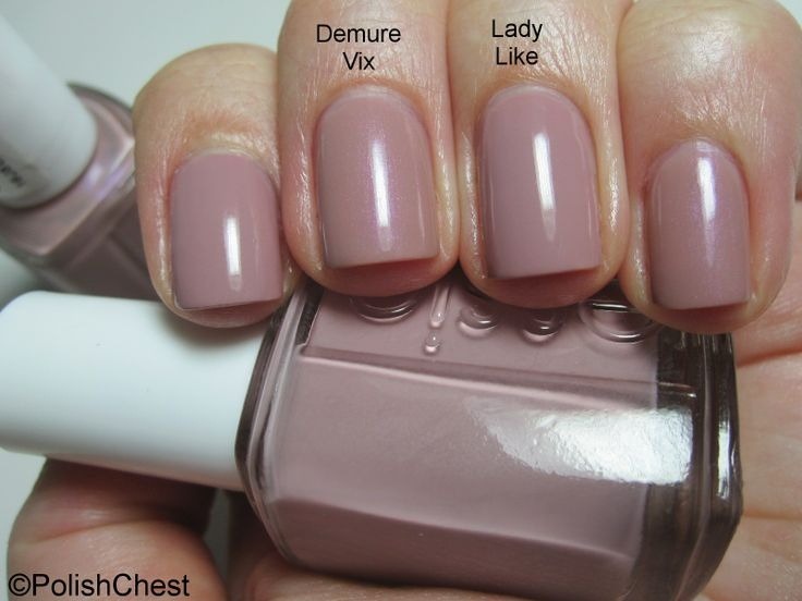 Essie - Demure Vix - Lady Like in 2019   Essie nail colors ...