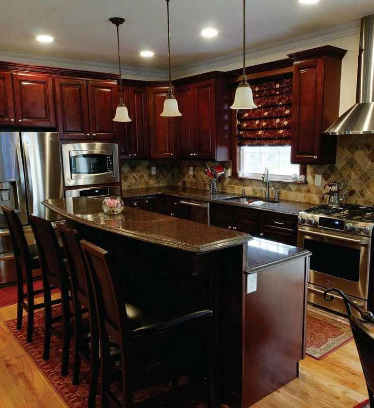 Elite Maple Kitchen Cabinets All Wood Cabinetry RTA 9 Cherry Stain