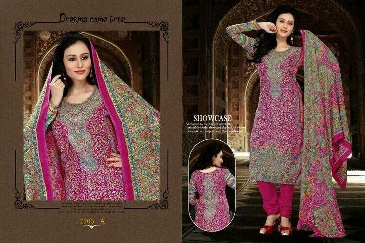 Printed Pashmina Dress Material with Shawl as a Dupatta