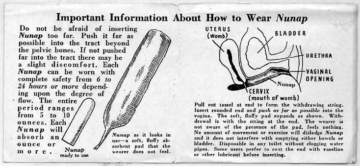 Nunap and fax tampons (instructions), 1930s, U.S.A., at