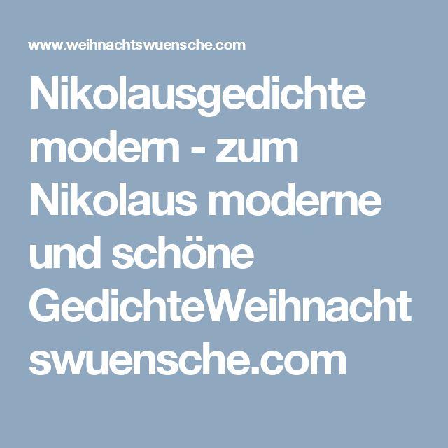 Nikolausgedichte modern - zum Nikolaus moderne und schöne GedichteWeihnachtswuensche.com