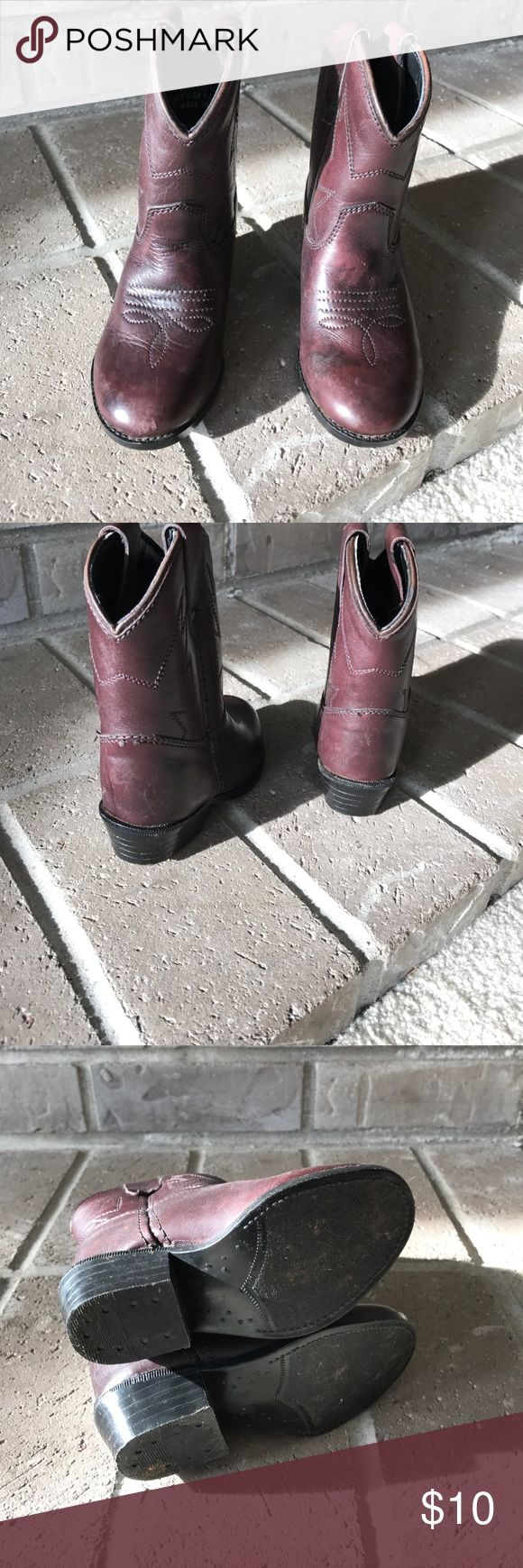 🐴🐴Kids cowboy boots Leather cowboy boots for your little cowboy or cowgirl.  Only worn a few times Shoes Boots