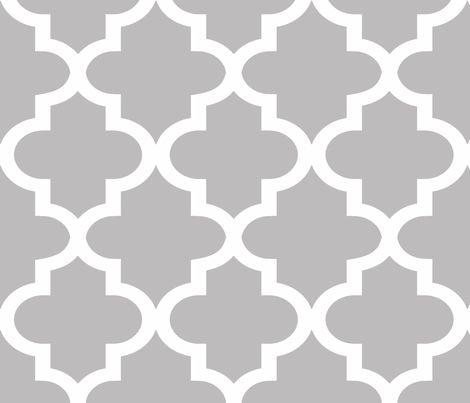 Quatrefoil Chinchilla fabric by honey