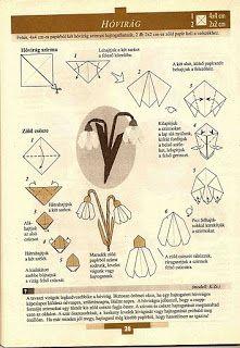 Mesetárház: hóvirág origami
