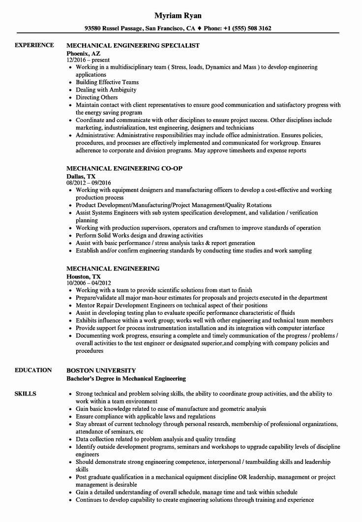 25 mechanical engineering resume examples in 2020