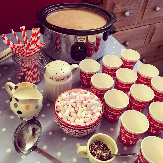 Hot Chocolate Station! Pinned from Sugar Rushed Blog