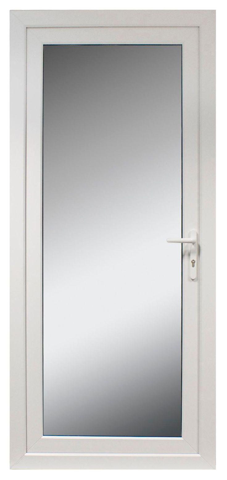 £235   White PVCu Fully Glazed External Back Door & Frame Lh, (H)2055mm (W)840mm   Departments   DIY at B&Q