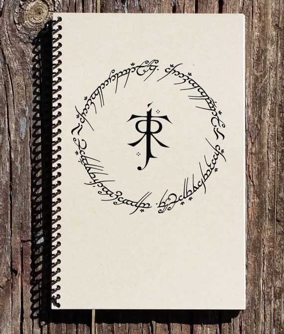 LOTR The One Ring - One Ring To Rule Them All - Lord of the Rings - Tolkien - LOTR Notebook - LOTR Journal - Sketchbook - Diary