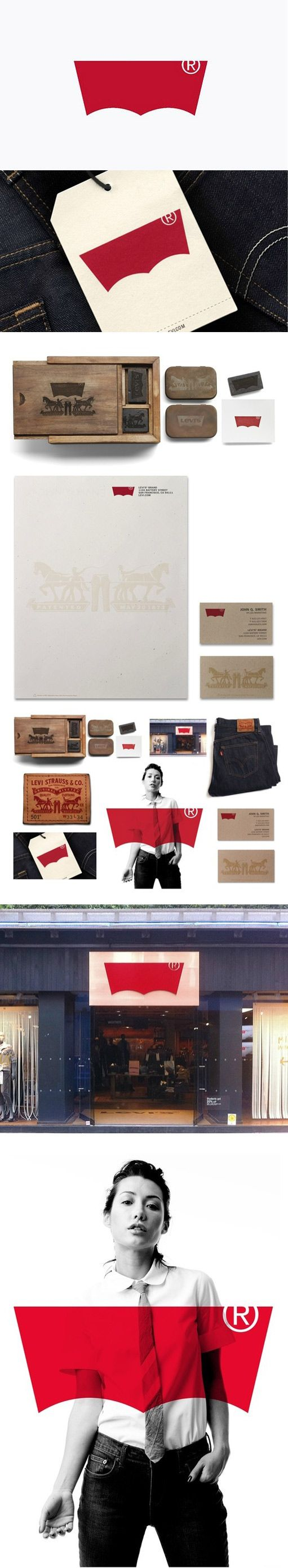 Branding // Levi's Integrated Branding - I saw this in-store last time I was out in NYC. It's really great to see the full system here. Turner Duckworth does a great job of distilling brands down to make them stronger. Great job you guys.