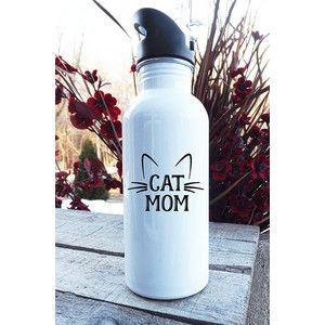 Cat Person Water Bottle Cat Pet Parents Cat Owner Gift Runner Water Bottle Gym Bottle Aluminum