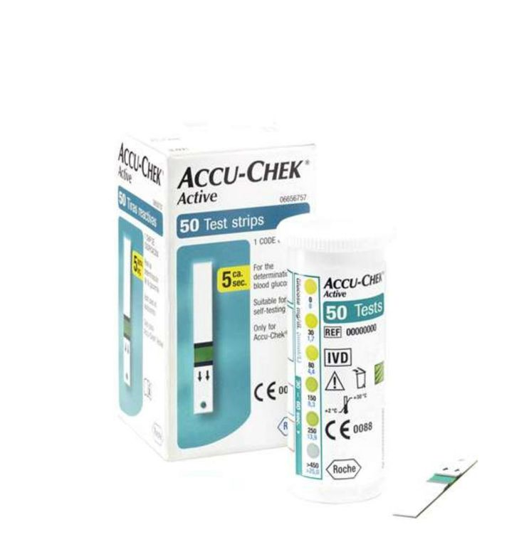 Accu chek Active 50 Strips Expiry May 2016 For Measuring Blood Sugar Level