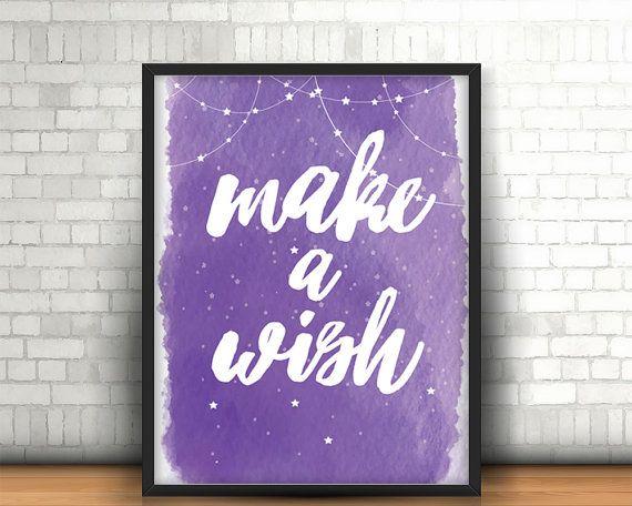 Christmas printable wall art decor make a wish' by BeePrintDesigns