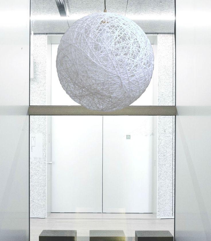 """White sphere pendant light. Modern pendant lamp, lighting fixture. String shadow lamp. Bedroom light fixture. Ceiling lamp. (45cm-18"""") by LightmeUpDesign on Etsy"""