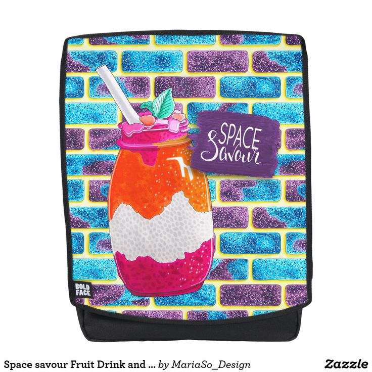 Space savour Fruit Drink and Unique cosmos bricks Backpack