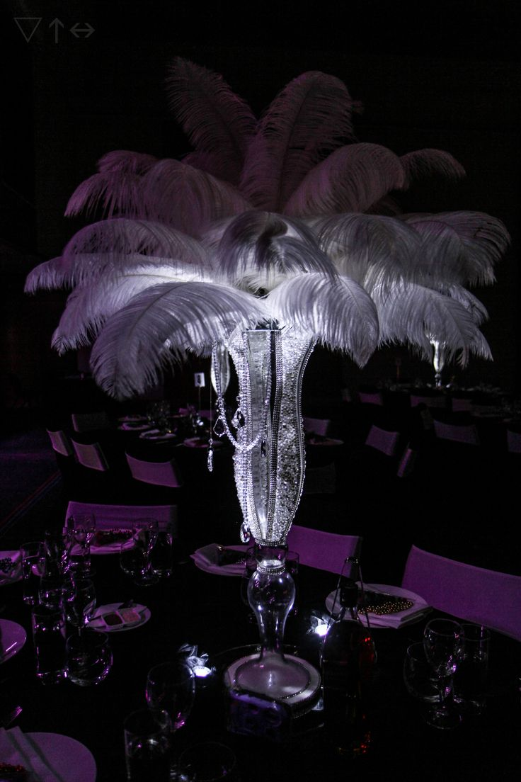 Our gorgeous Grace Vase is encrusted with over 2000 pearls & crystals! Hand made, over 30 pieces available for hire, including our gorgeous Gatsby Feathers. Will you choose Grace for your next event?