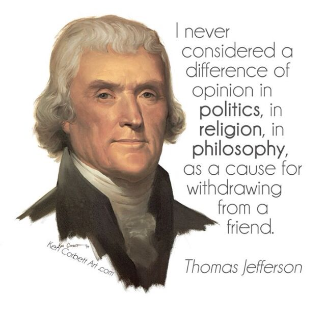 Image result for jefferson quote friends politics