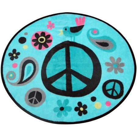 World Of Peace Bath Rug, Multicolor