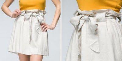 paper bag skirt tutorial: Bags Waist, Skirts Tutorials, Bags Skirts, Paperbag Skirts, Paper Bags, Diy Clothing, Paperbag Waist, Skirts Patterns, Long Awaits Paper