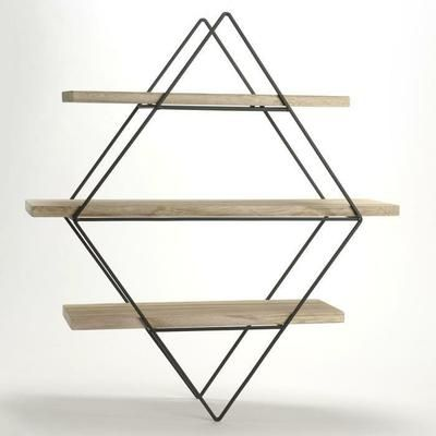 17 best ideas about etagere bois et metal on pinterest for Decoration murale hexagonale
