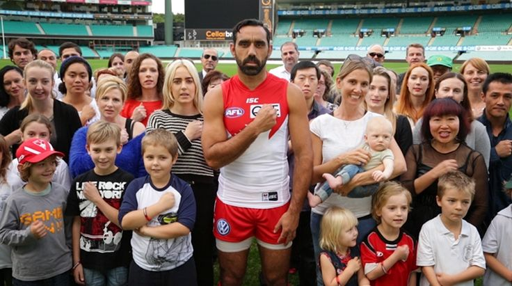"Australia must and can be better than this"" - Joint Statement on racism directed at Adam Goodes Adam Goodes at Racism It Stops With Me  filming Today in advance of the weekend round of AFL, 150 organisations (listed overleaf) join together to call for renewed efforts to stamp out racism in sport and everyday life."
