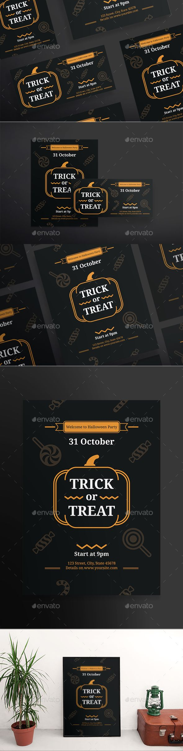 Trick Or Treat Flyers