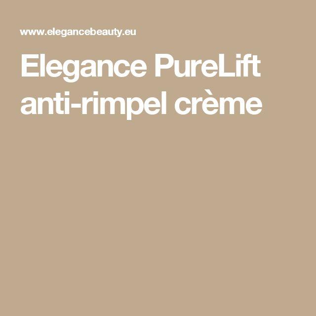 Elegance PureLift anti-rimpel crème