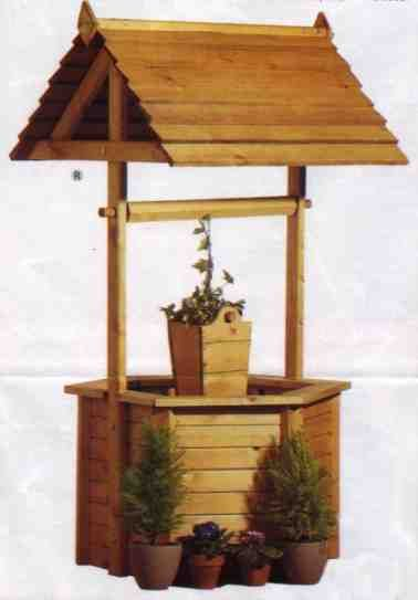 Wishing well planter plans woodworking projects plans for Garden wishing well designs