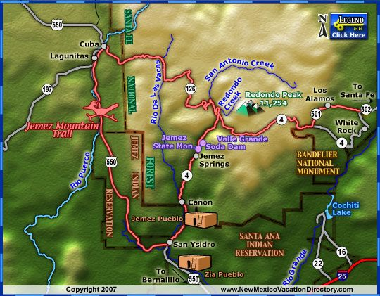 jemez springs new mexico map | ... , Cuba, Jemez Springs, Lagunitas, Los Alamos & San Ysidro, New Mexico