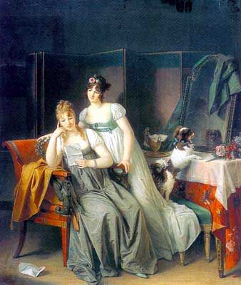"""two women"" Marguerite Gerard Papillon art"