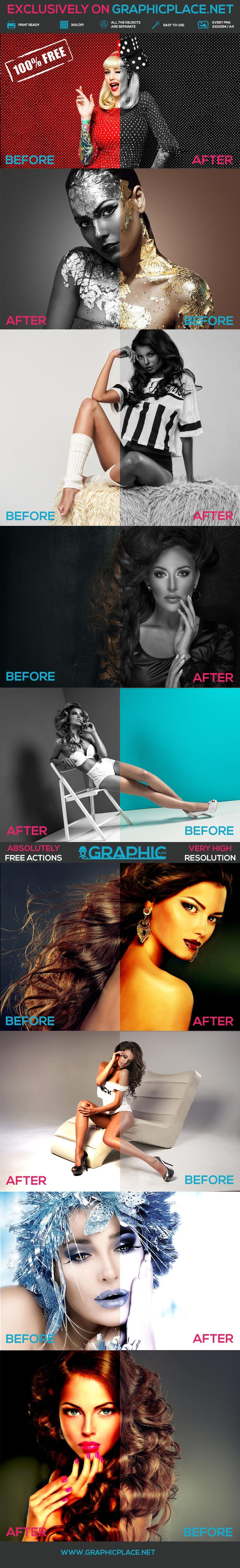 9 Exclusive Actions - Free Photoshop Actions.  #freeaction #photoshopaction #photohighquality #blackandwhite #coldeffect #fireeffect #exclusivephotoshopactions  DOWNLOAD FREE PHOTOSHOP ACTION: http://www.graphicplace.net/9-photoshop-actions-free-actions/  MORE FREE GRAPHIC RESOURCES: http://www.graphicplace.net/