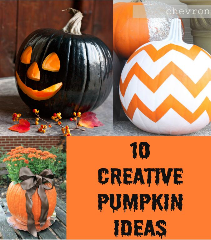 Creative Pumpkin Ideas Halloween Pinterest