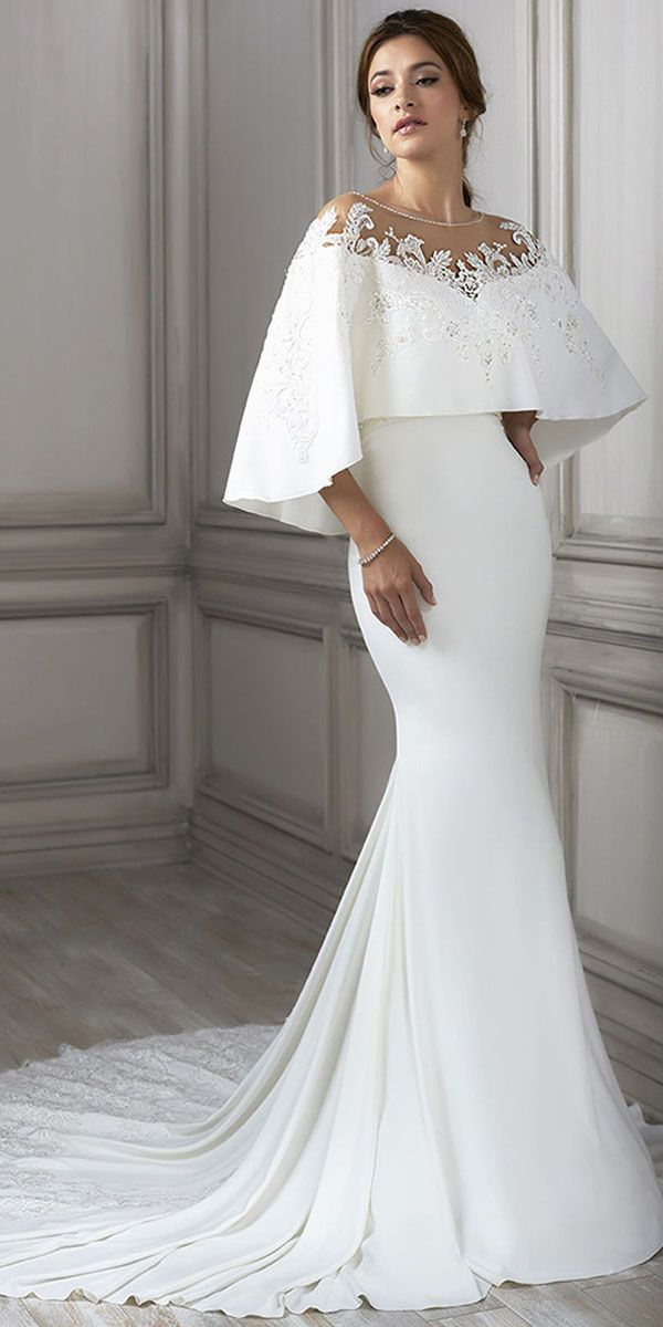 Eye-catching Si Miantan Jewel Neckline Mermaid Wedding Dress With Beaded Lace Ap…