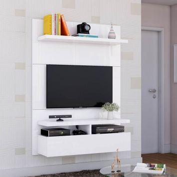 Painel para TV 40 Polegadas Zeus Branco Gloss 120 cm