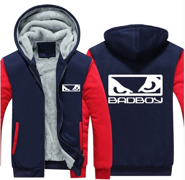 2018 USA Size MMA Badboy Bad Boy Unisex Hoodie Coat Winter Fleece Thicken Sweatshirts Jacket