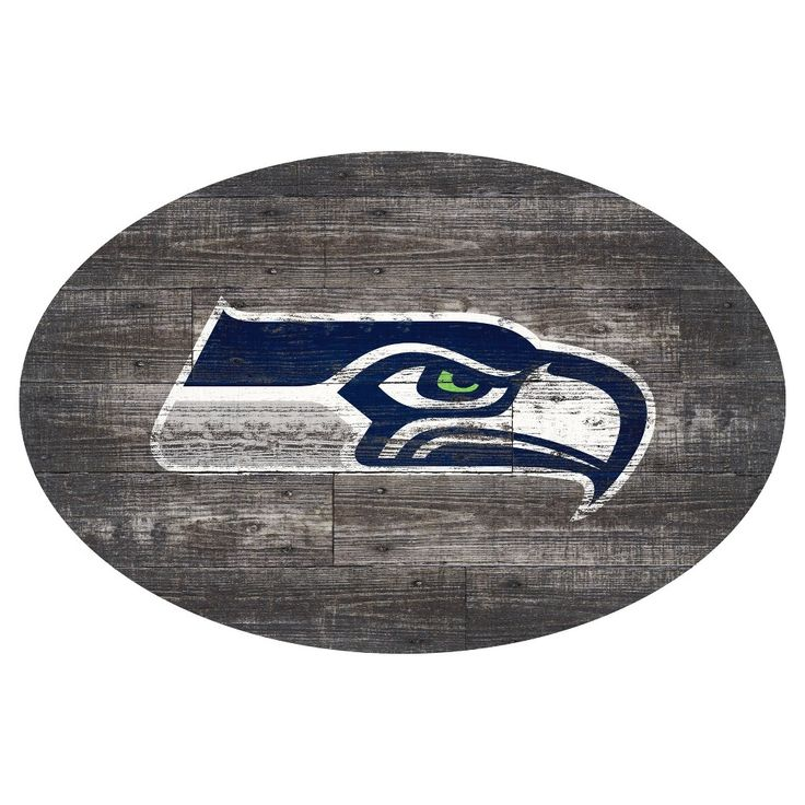 NFL Seattle Seahawks 46 Distressed Wood Oval Sign