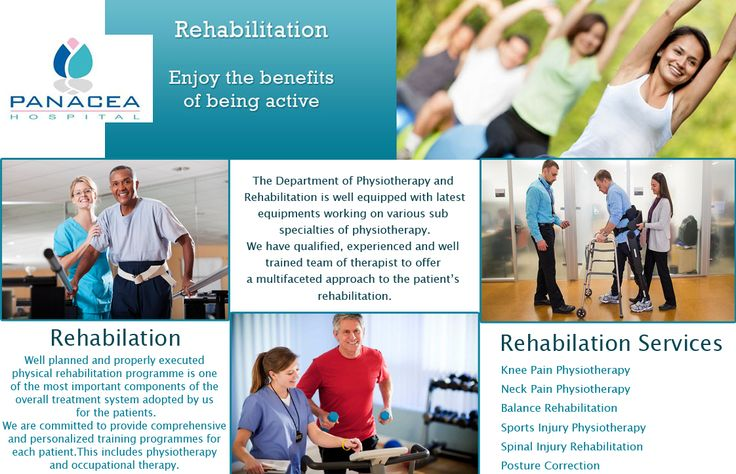 #PanaceaHospital Rehabilitation aims is to minimize disability and help you return to a more independent and productive lifestyle. Patient Care is our top most priority. #Physiatrists #Physical Therapists #Occupational Therapists #Speech Therapists