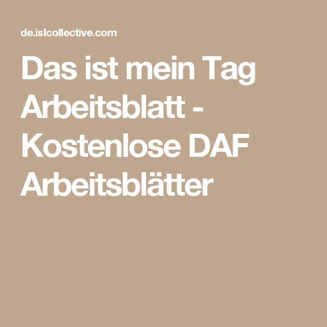 11 besten Mein Tag Bilder auf Pinterest | Deutsch lernen, Daf ...